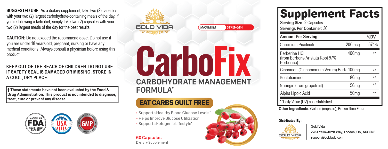 CarboFix Ingredients List - Any Side Effects? My Result
